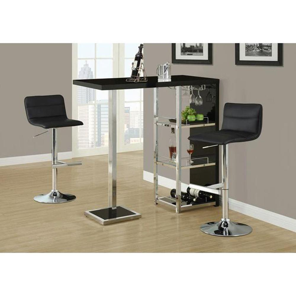 Monarch Specialties Adjustable Height Chrome Swivel