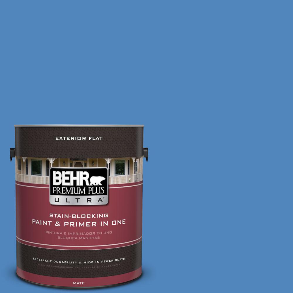 BEHR Premium Plus Ultra 1-gal. #570B-6 Handsome Hue Flat Exterior Paint