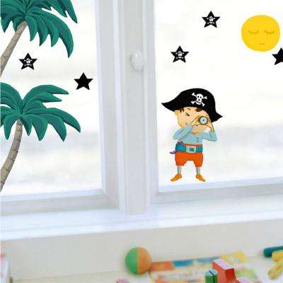 Multi-Color Stars and Pirate Wall Decals