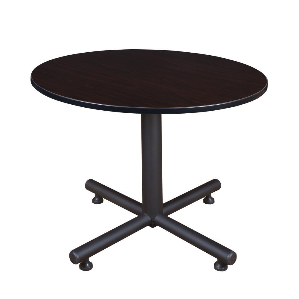 Kobe 48 in. Mocha Walnut Round Breakroom Table