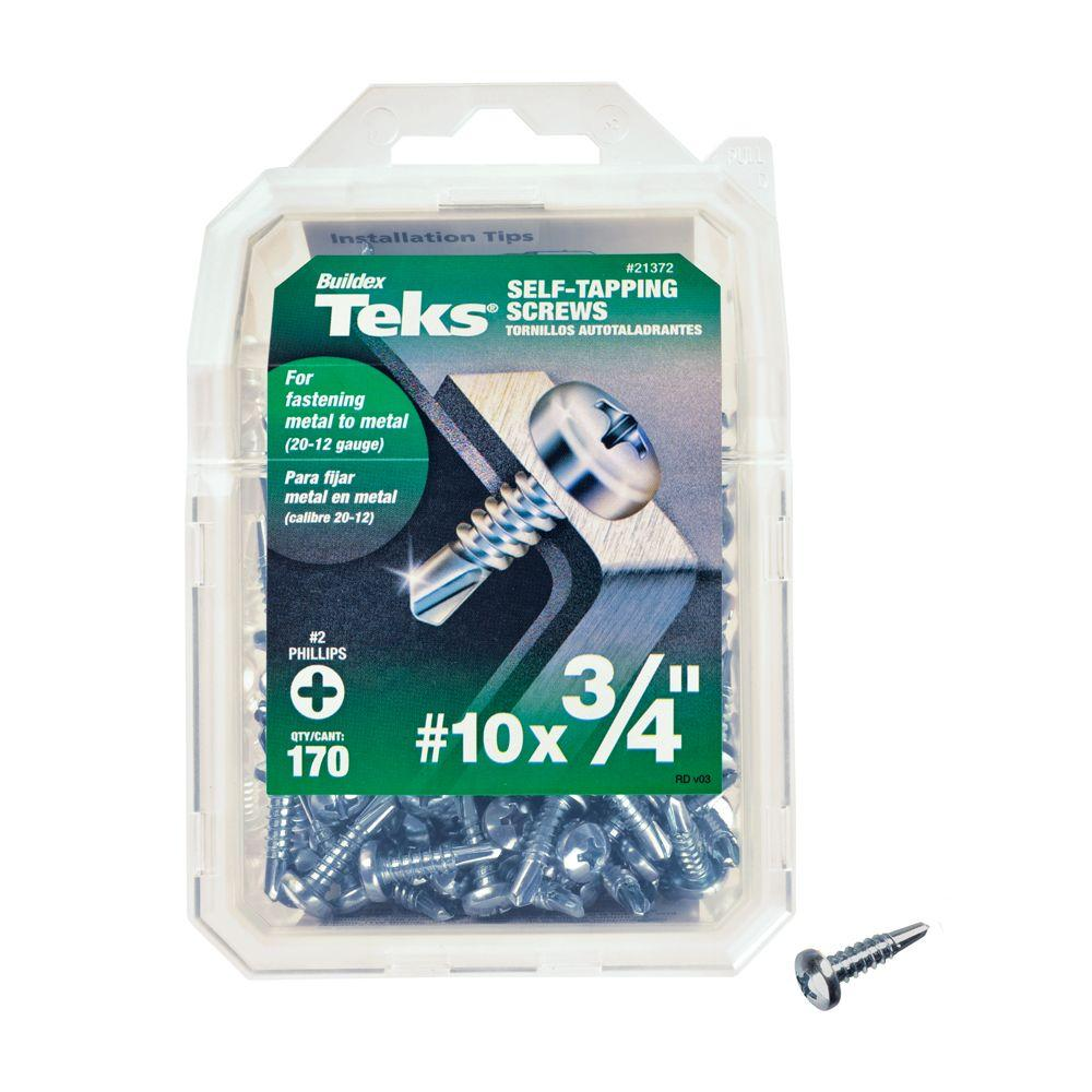 #10 3/4 in. Phillips Pan-Head Self-Drilling Screws (170-Pack)