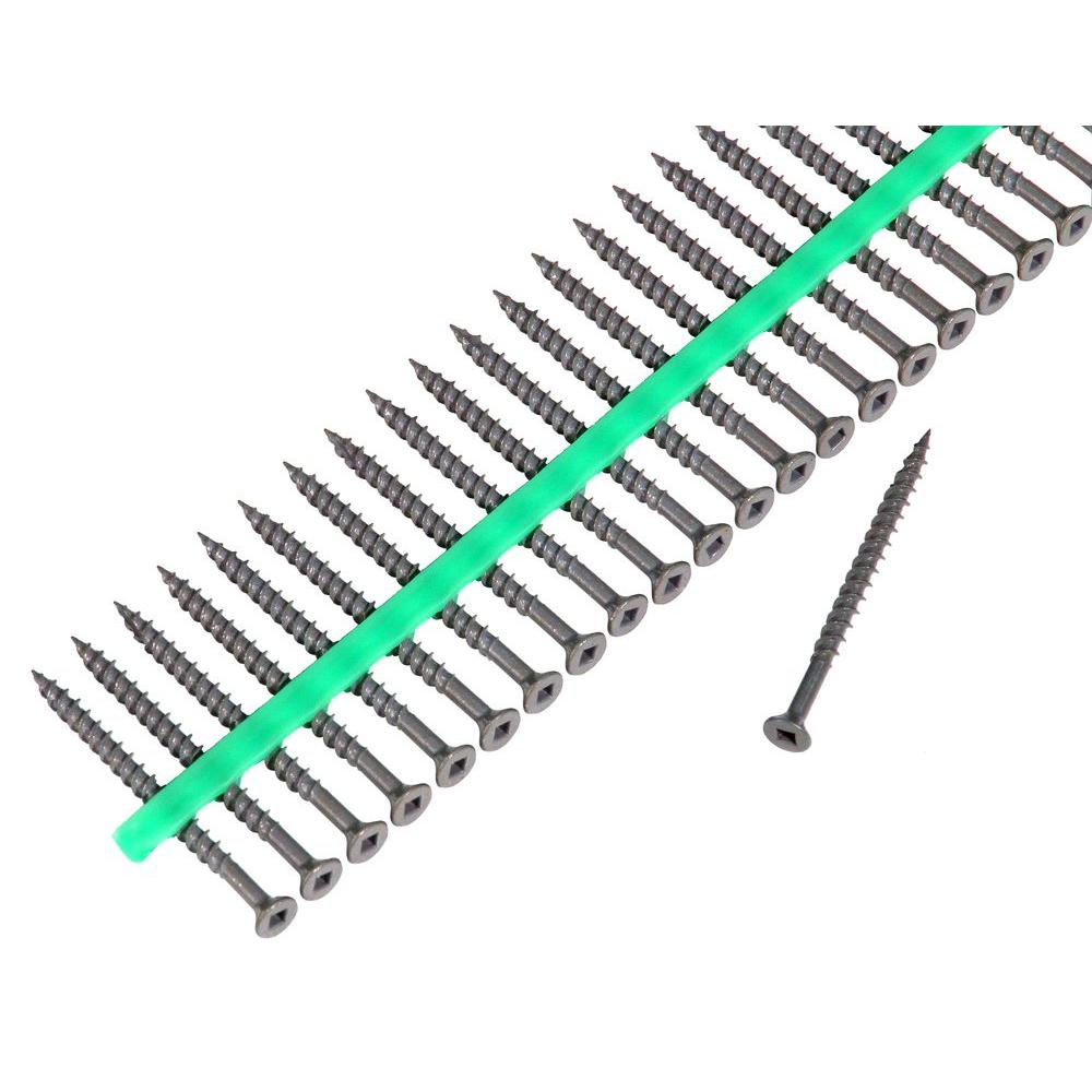 MURO Auto Feed 2 1/2 in. Deck Screws with Shield Guard Strips-30 Pack of 1500