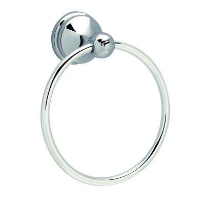 Allante Towel Ring in Polished Chrome