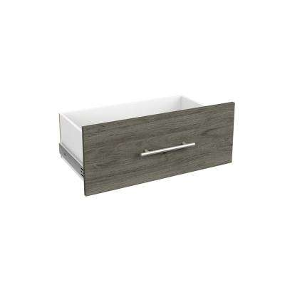 Style+ 10 in. H x 25 in. W Coastal Teak Melamine Modern Drawer Kit for 25 in. W Tower