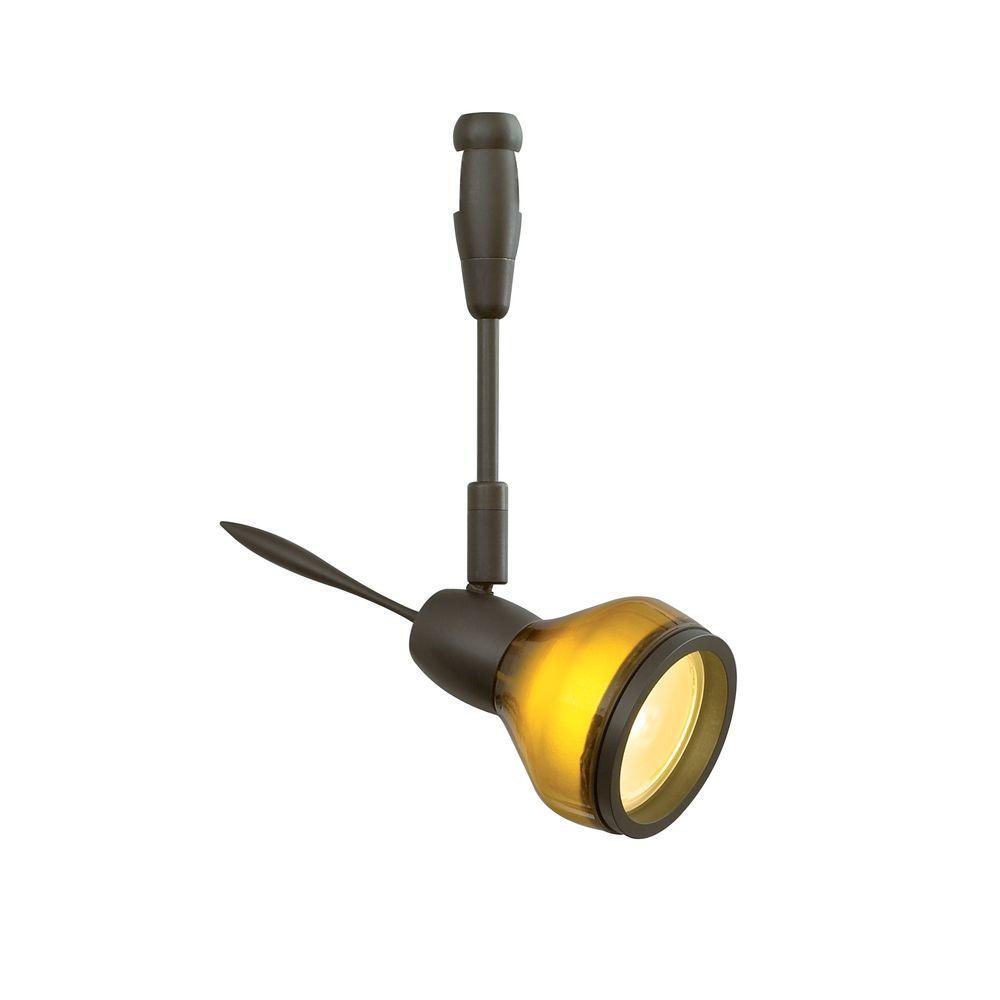 Vent 1 light bronze led track lighting head