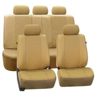 Deluxe Leatherette 21 in. x 21 in. Full Set Seat Covers