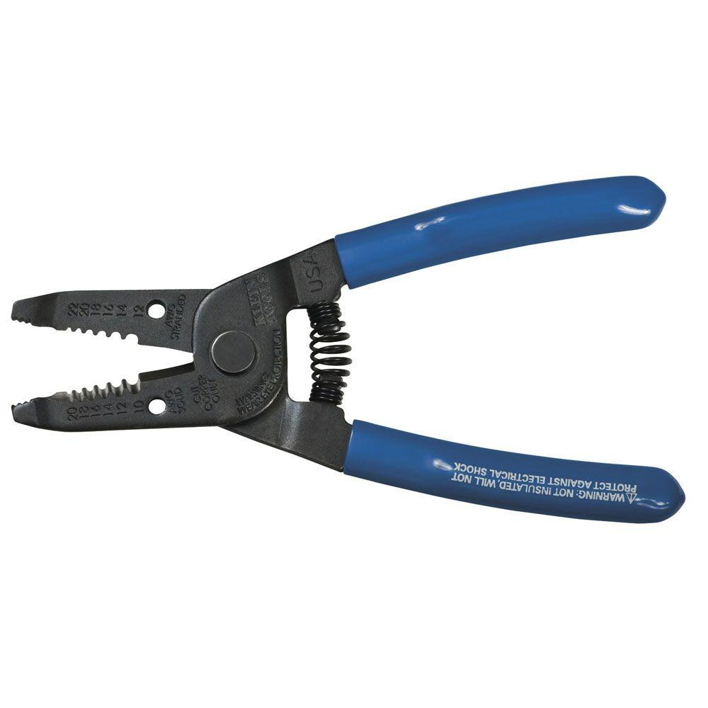 Klein Tools 6 in. Multi-Purpose Wire Stripper and Cutter for 10-20