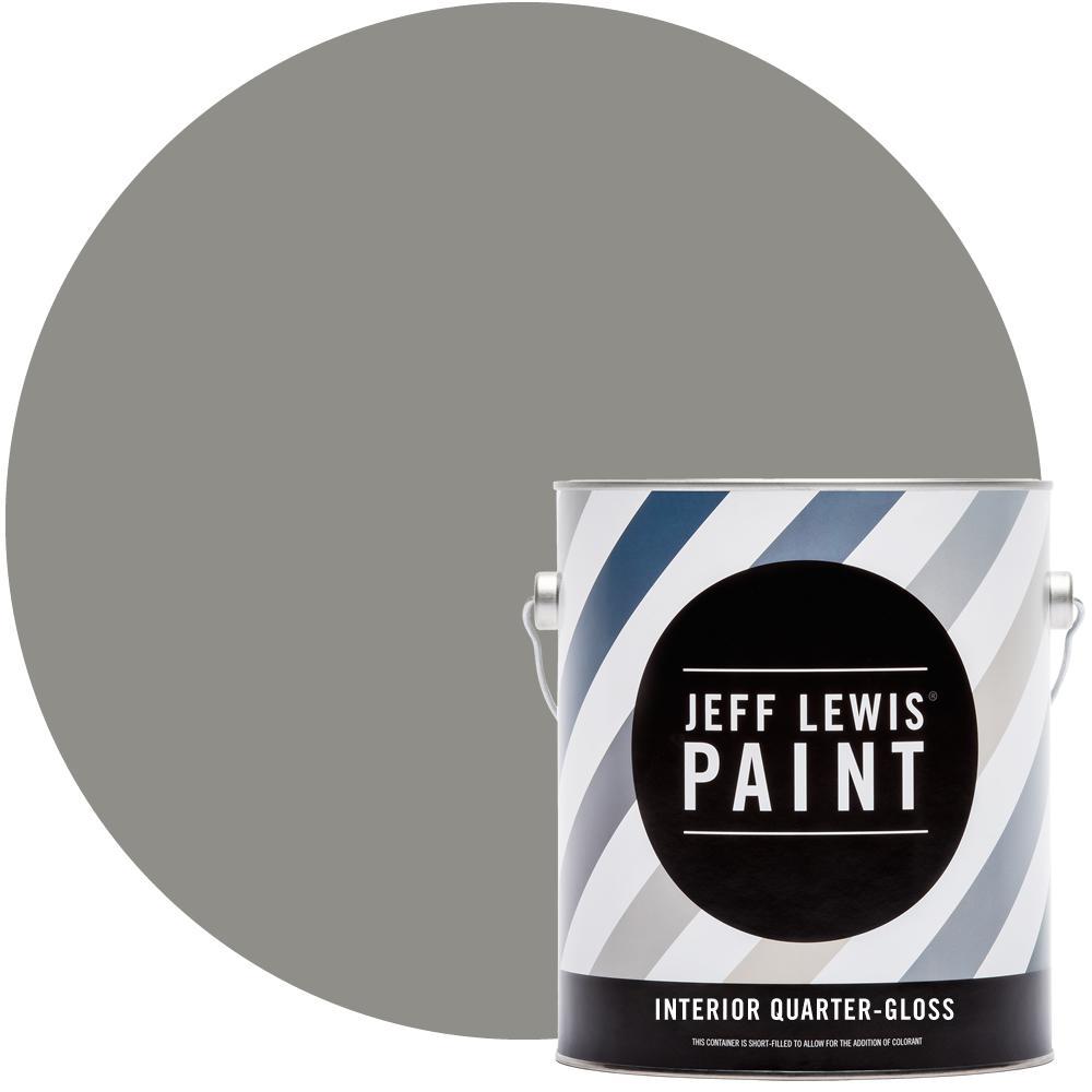 1 gal. #414 Gravel Quarter-Gloss Interior Paint