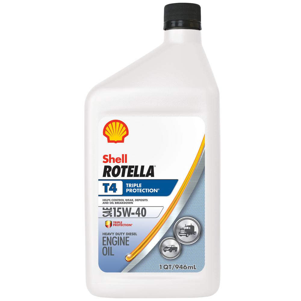 Shell Rotella T4 >> Shell Rotella Rotella T4 Triple Protection 15w 40 Diesel Motor Oil 1 Qt