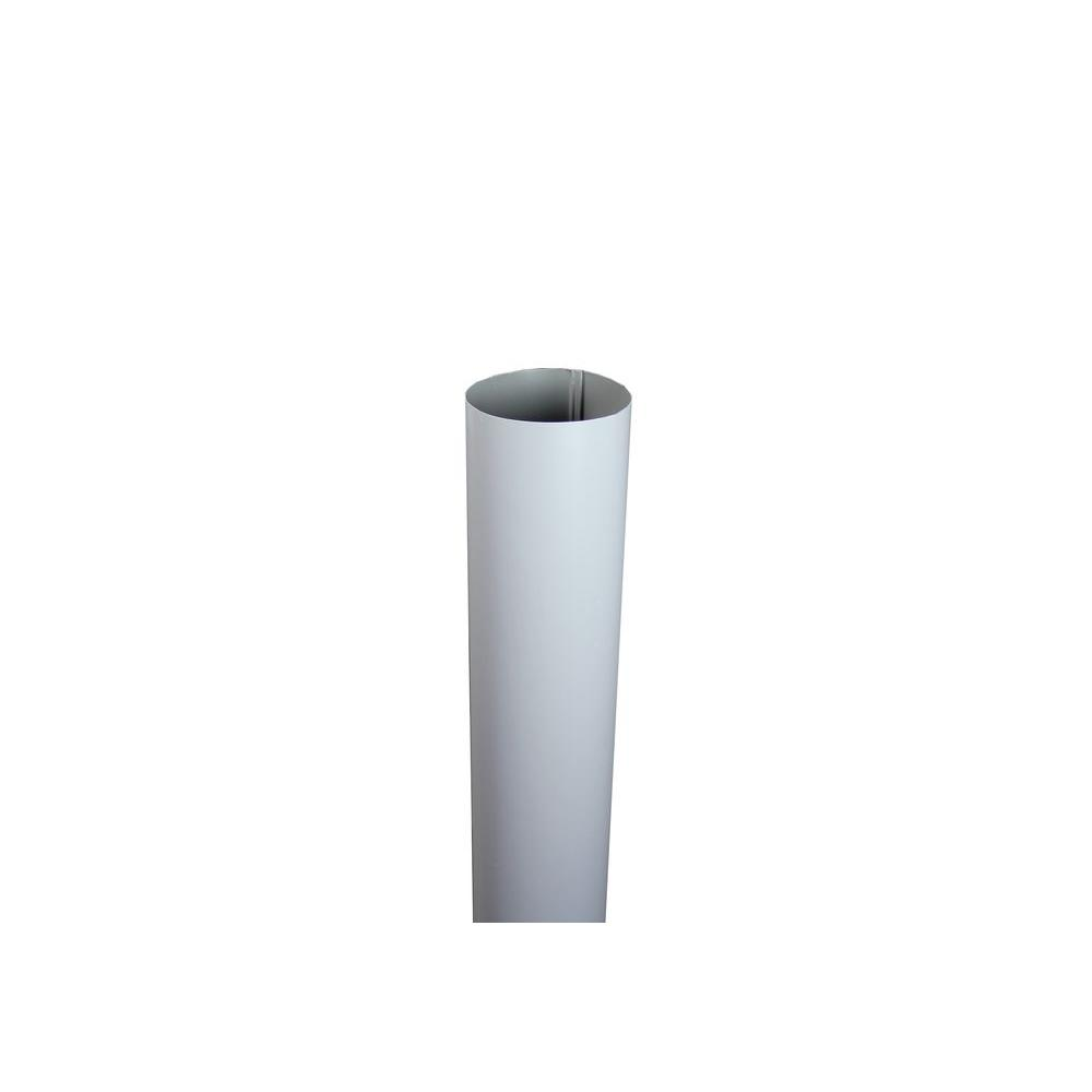 4 in. x 10 ft. Round Dove Gray Downpipe