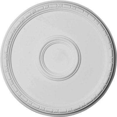 19-3/4 in. O.D. x 1-3/8 in. Odessa Bead and Barrel Ceiling Medallion