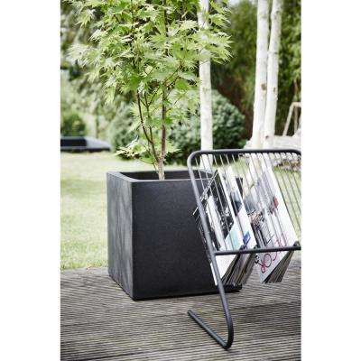 15.75 in.L x 15.75 in. W x 15.75 in. H Black Polyurethane Smooth Finish Square Planter