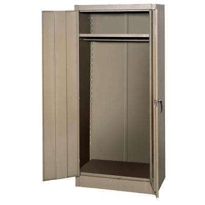 66 in. H x 30 in. W x 18 in. D Steel Freestanding Wardrobe Cabinet in Tan