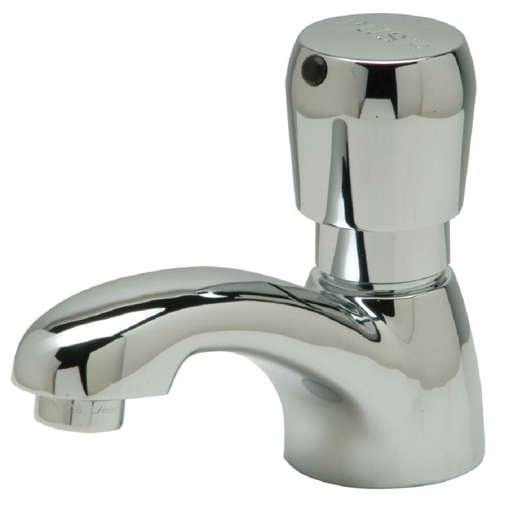 Single Hole Single-Handle Metering Bathroom Faucet in Chrome