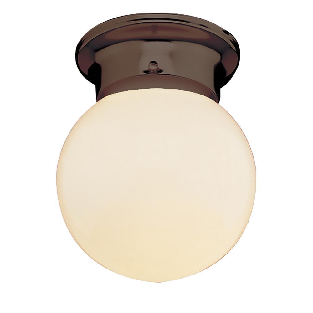 Bel Air Lighting Dash 1-Light Rubbed Oil Bronze Flush Mount