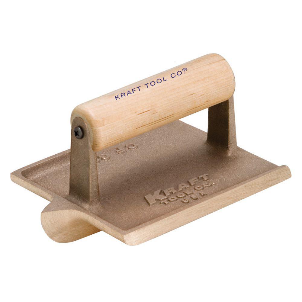 6 in. x 4.5 in. Bronze Hand Groover Wood Handle