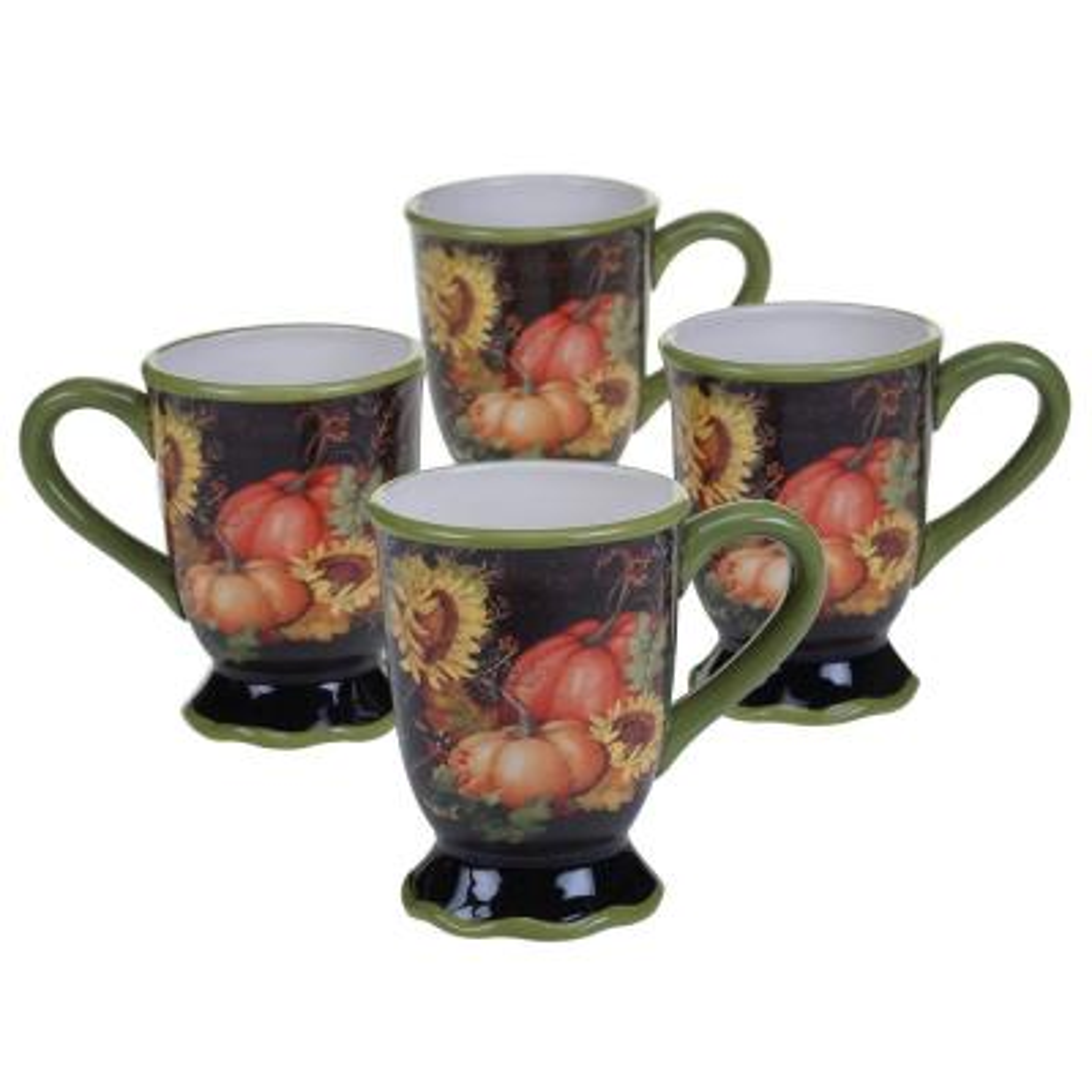 Botanical Harvest 18 oz. Mug (Set of 4)