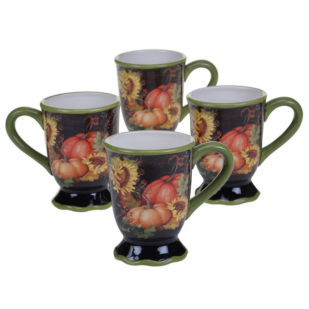 Botanical Harvest 18 oz. Mug (Set of 4) by