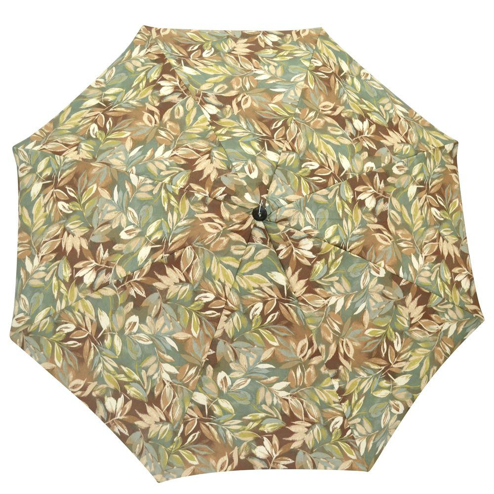 Plantation Patterns 7-1/2 ft. Patio Umbrella in Seabreeze Tropical