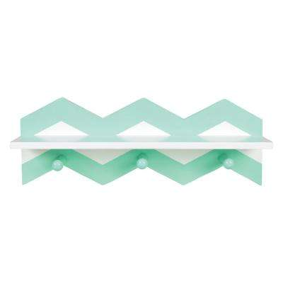 Mint Chevron 18 in. W x 4 in. D Wall Shelf