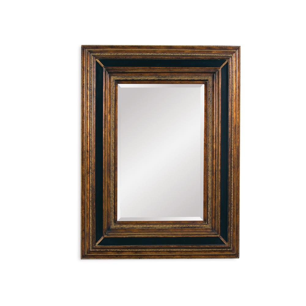 BASSETT MIRROR COMPANY Valejio Decorative Wall Mirror The antique gold and ebony finish makes our exquisite Vallejo wall mirror stand out among surrounding decor . Bold lines and distinctive colors reward this mirror with a style all its own. This mirror will create a sophisticate look in any room.
