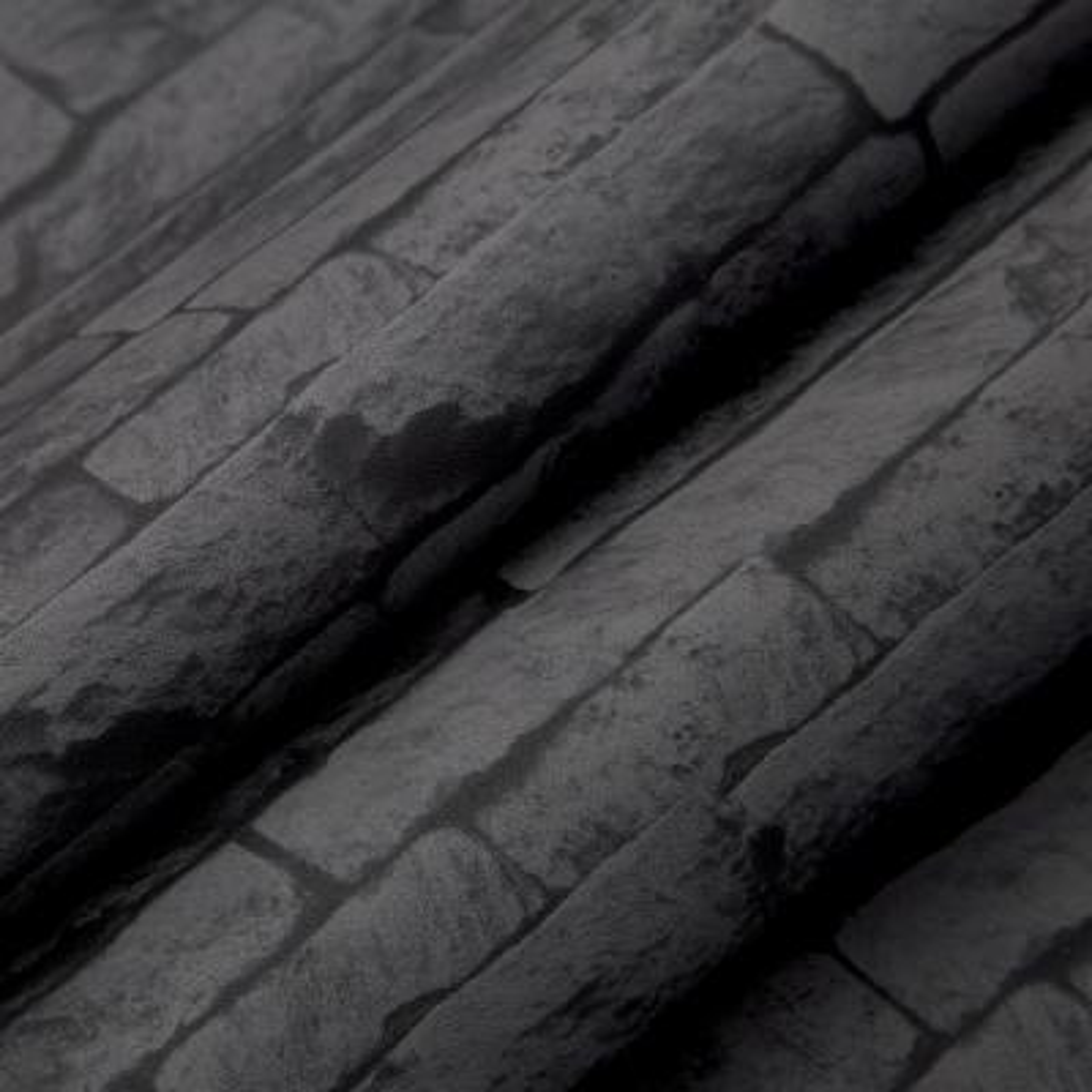 Strata Odysee Black Removable Wallpaper