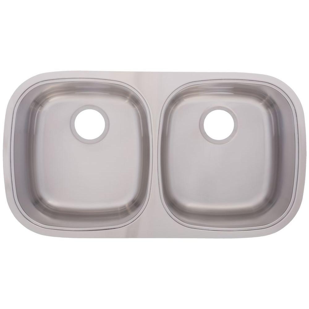 FrankeUSA Undermount Stainless Steel 31.5x17.5x9 Double Basin Kitchen Sink