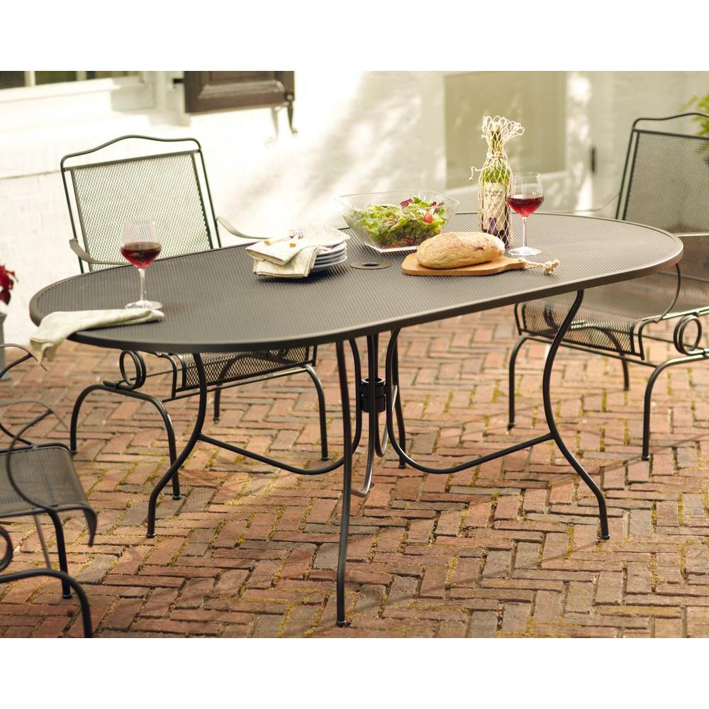 Arlington House Jackson Oval Patio Dining Table 3872200 0105157   The Home  Depot