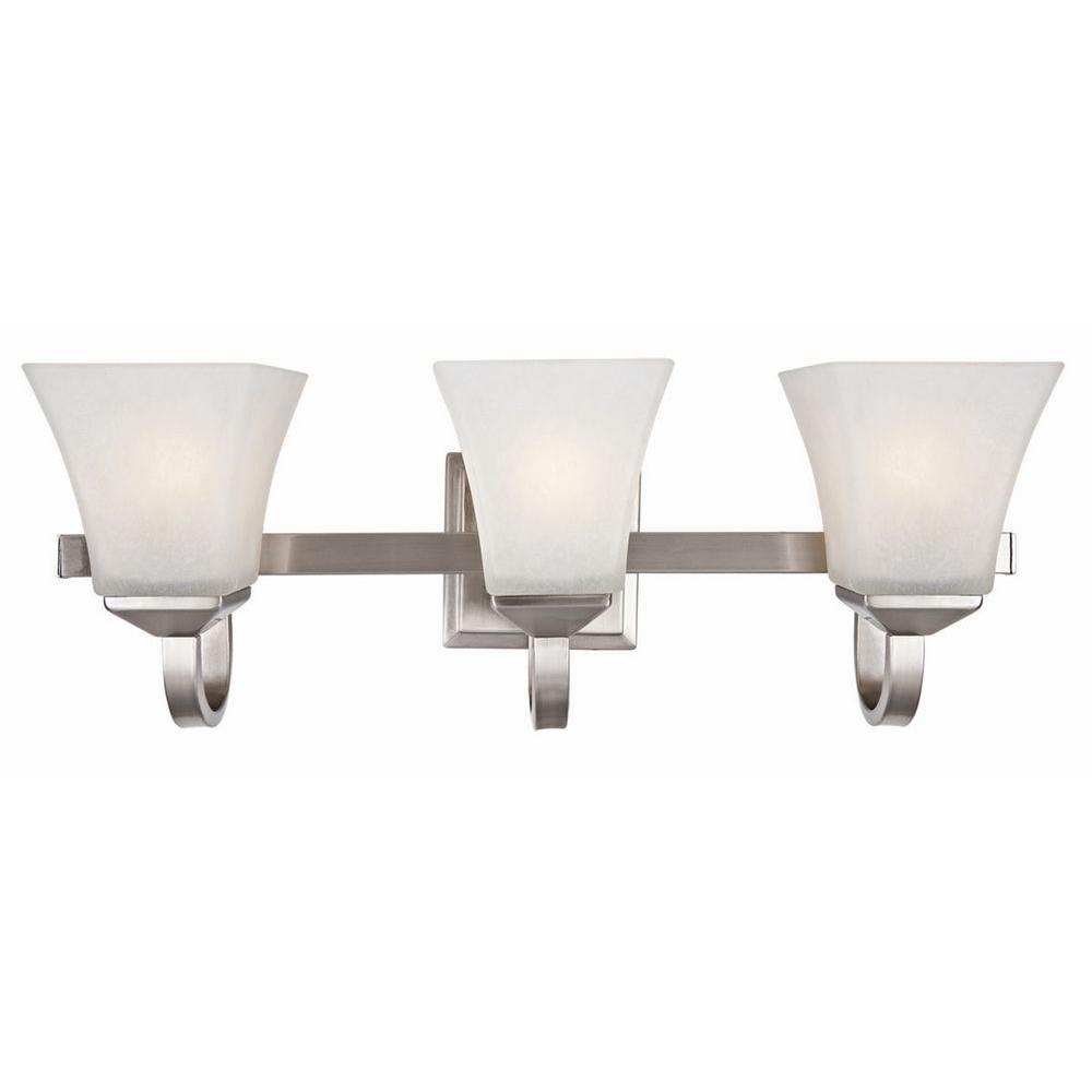 Design House Torino 3-Light Satin Nickel Vanity Light-514760 - The on victoria collection, trump hotel collection, nice collection, sherri hill collection, vera wang princess collection, the british museum collection,