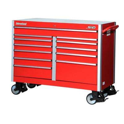 SHD Series 54 in. 12-Drawer Cabinet, Red