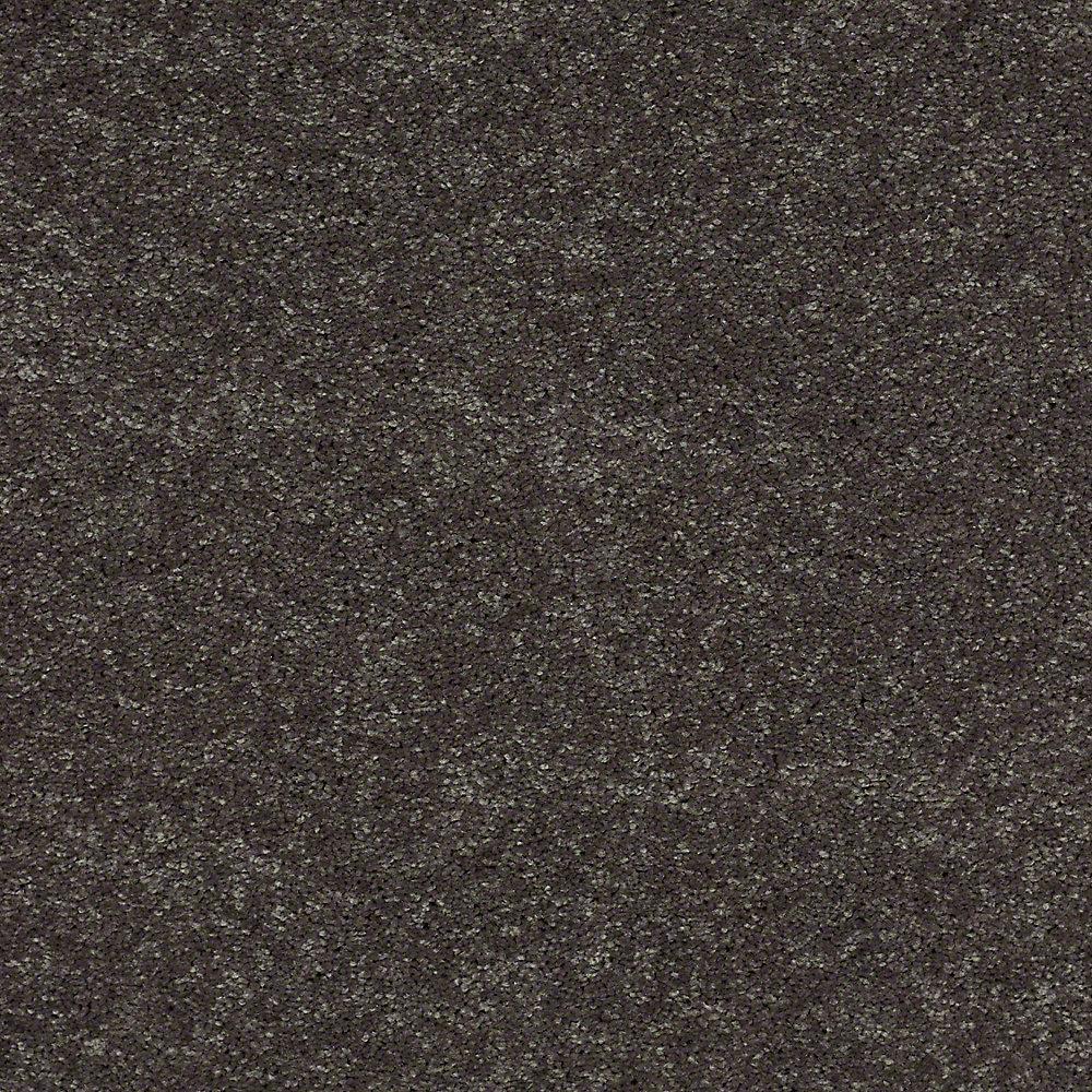 Carpet Sample - Brave Soul II 12 - In Color Black Satin 8 in. x 8 in.
