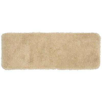 Serendipity Linen 22 in. x 60 in. Washable Bathroom Accent Rug