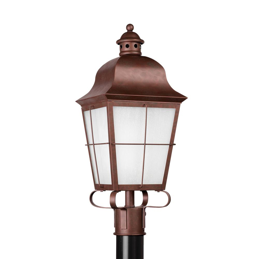 Outdoor Post Light Bulbs: Sea Gull Lighting Chatham 1-Light Outdoor Weathered Copper