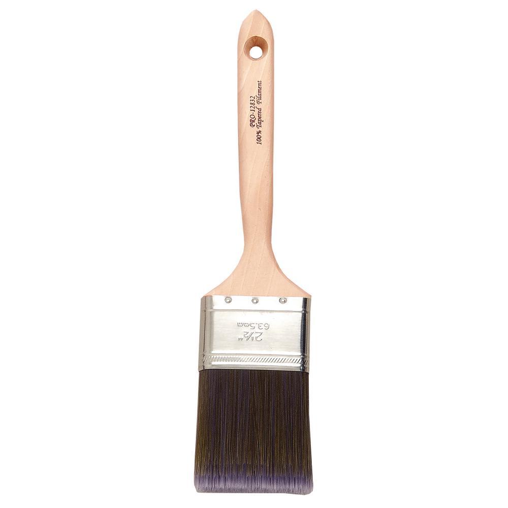 Platinum 2-1/2 in. Flat Sash Polyester Paint Brush (6-Pack)