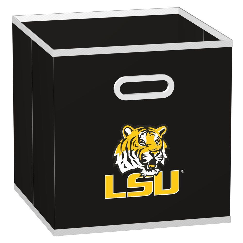 MyOwnersBox College Storeits Louisiana State University 10-1/2 in. x 11 in. Black Fabric Storage Drawer