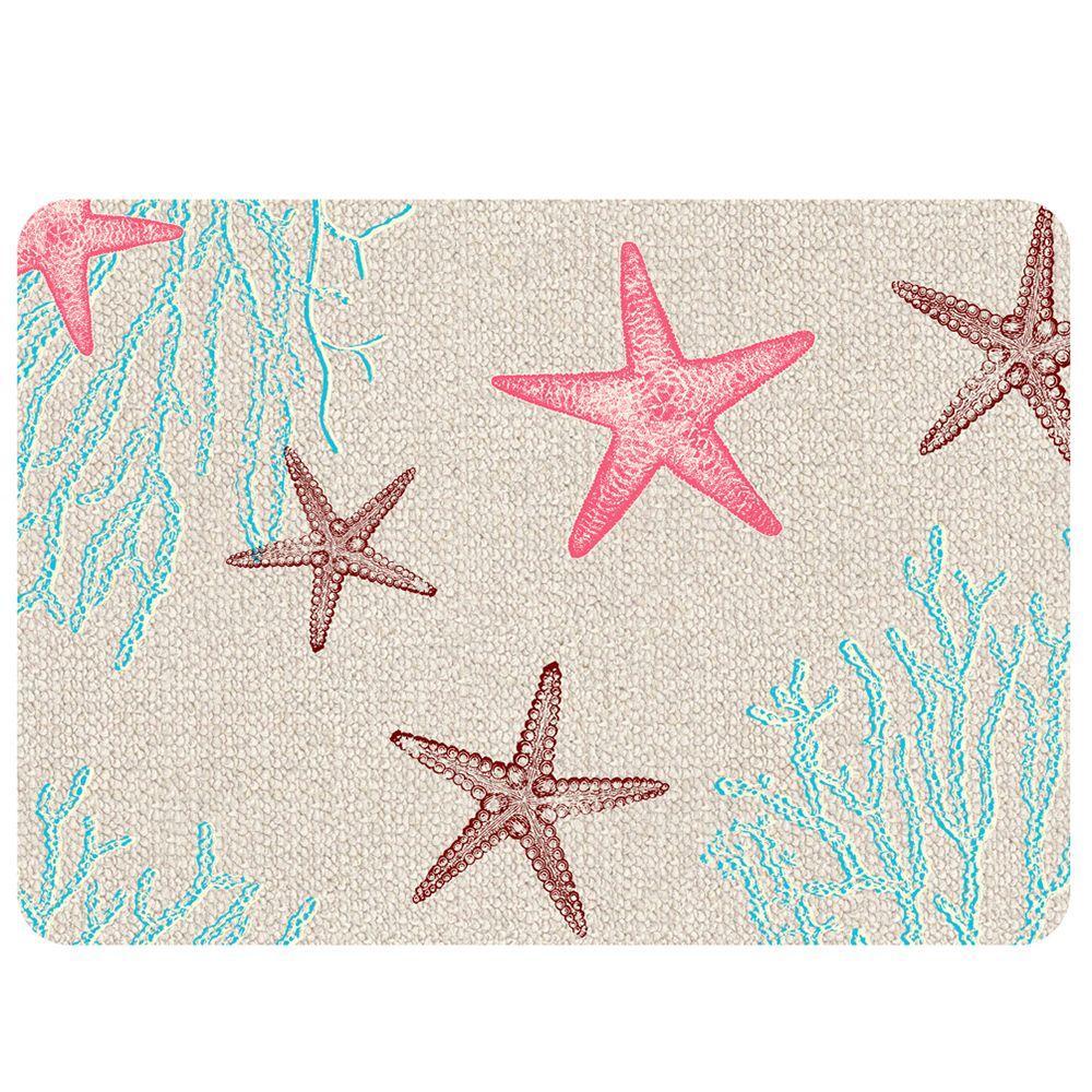 Starfish Hooked 2 Multi 22 in. x 31 in. Premium Comfort Mat
