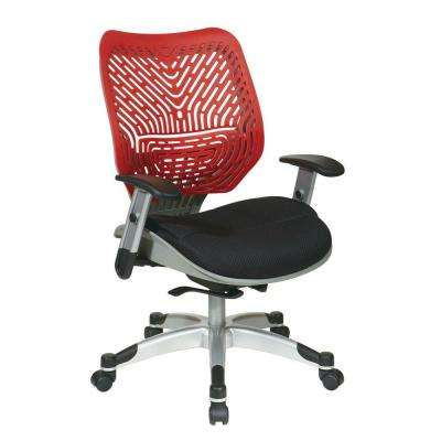 Revv Red SpaceFlex Self Adjusting Manager Office Chair
