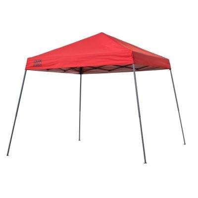 Expedition Team Colors 10 ft. x 10 ft. Red Slant Leg Instant Canopy