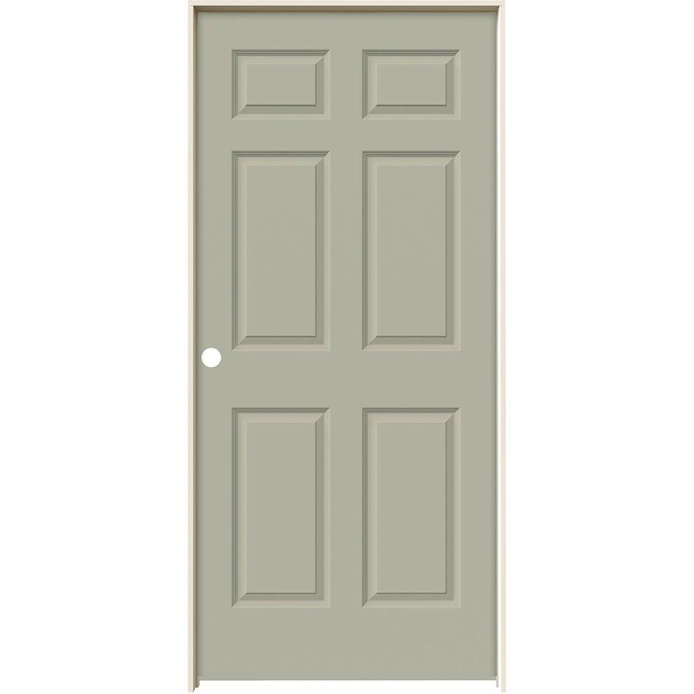 JELD-WEN 36 in. x 80 in. Colonist Desert Sand Painted Right-Hand Smooth Molded Composite MDF Single Prehung Interior Door
