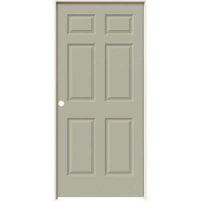 36 in. x 80 in. Colonist Desert Sand Painted Right-Hand Smooth Molded Composite MDF Single Prehung Interior Door