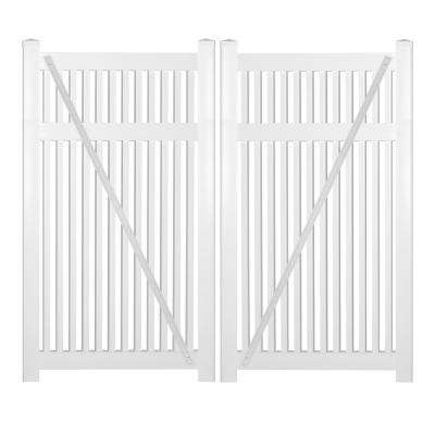 Williamsport 8 ft. W x 5 ft. H White Vinyl Pool Fence Double Gate
