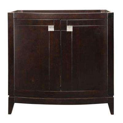 Gavin 36 in. W x 21.50 in. D x 35.25 in. H Birch Vanity Cabinet Only in Espresso