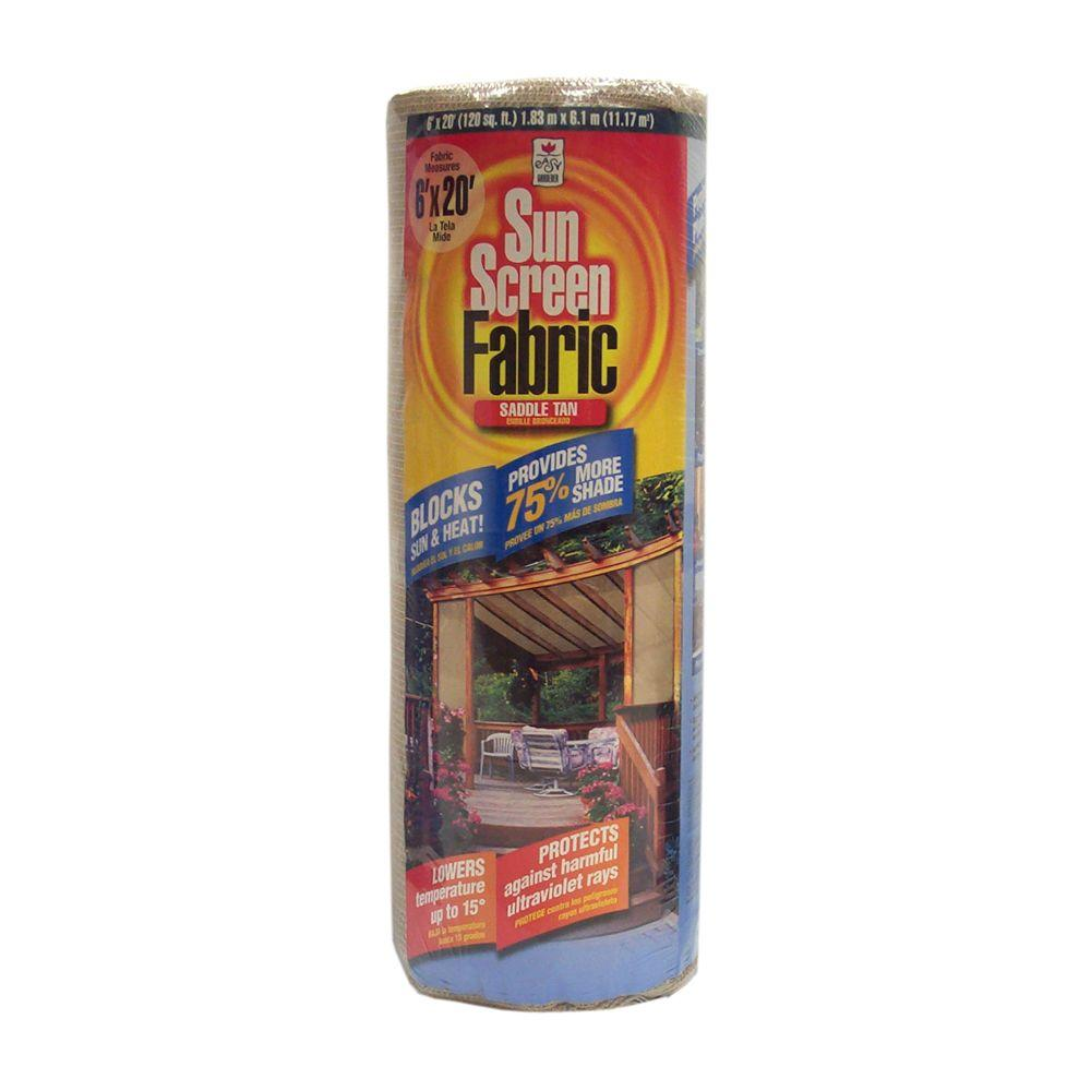 Sun Screen Fabric Shade Canopy In Saddle