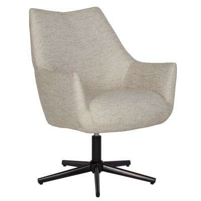 Gunnison Swivel Arm Chair in Oatmeal Tan Textured Strie