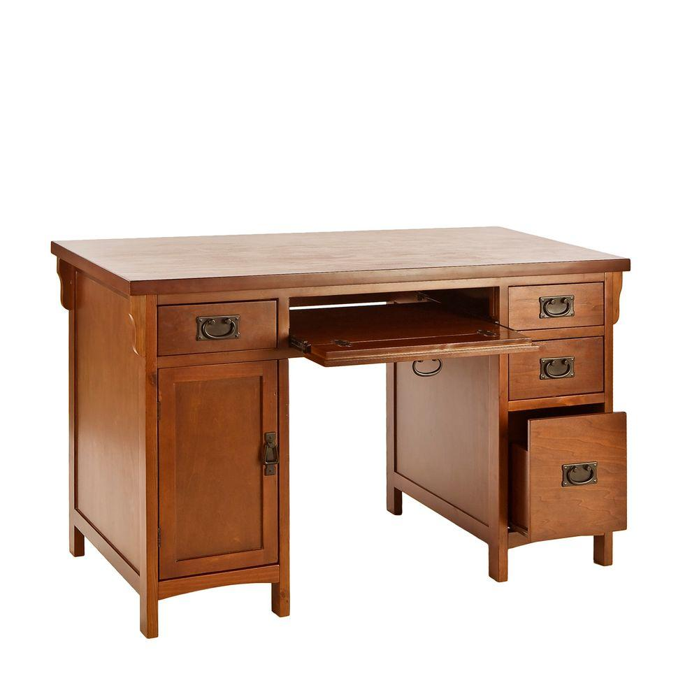 mahogany storage desk ho8808 the home depot rh homedepot com home depot desk risers home depot desk diy