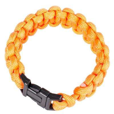 9 in. Polyester Survival Paracord Bracelet - Orange