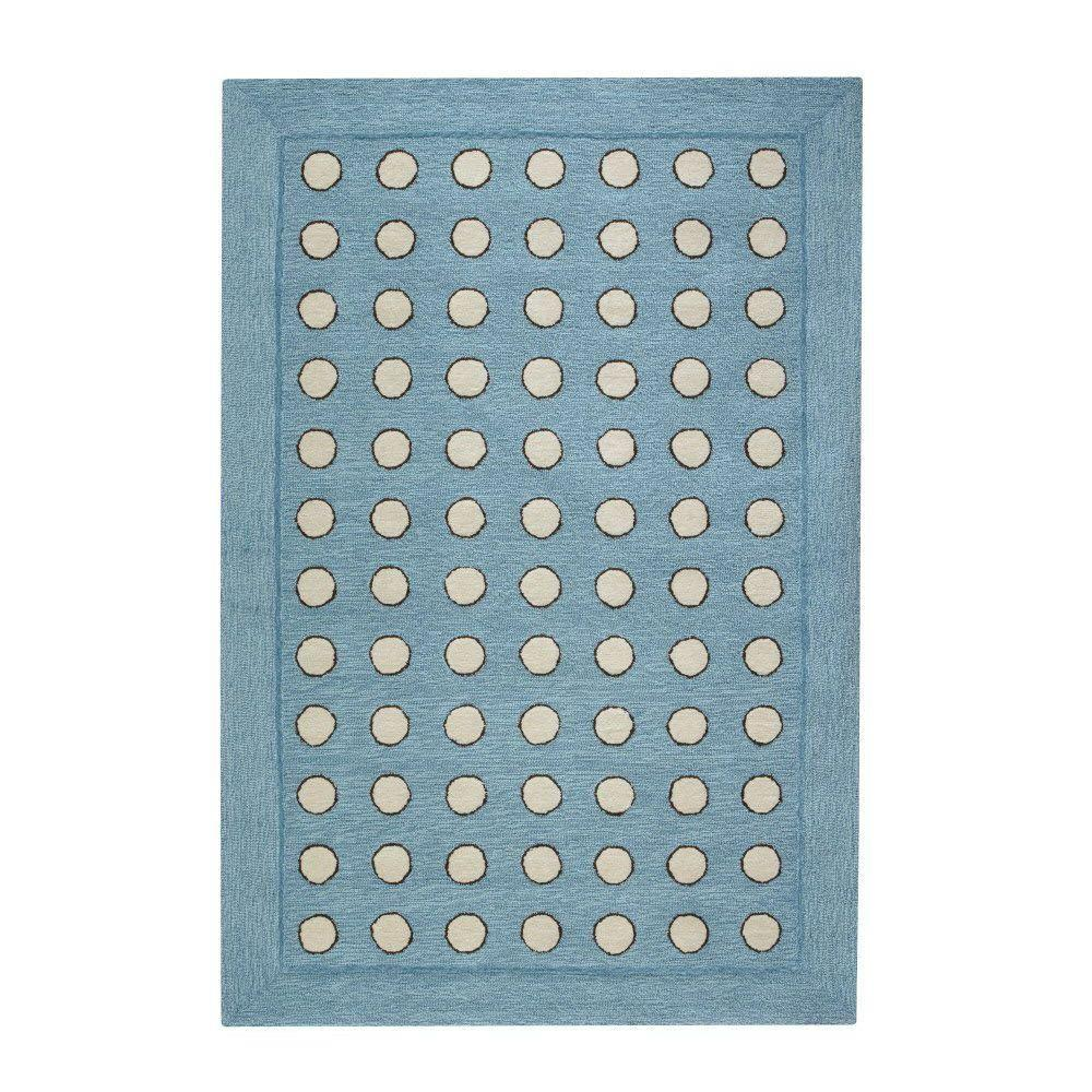 Home Decorators Collection Dottie Blue 3 ft. 6 in. x 5 ft. 6 in. Area Rug