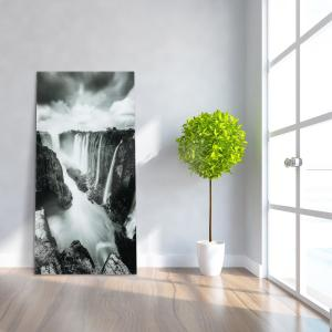 ''The Falls'' Frameless Free Floating Tempered Art Glass by EAD Art Coop Wall Art
