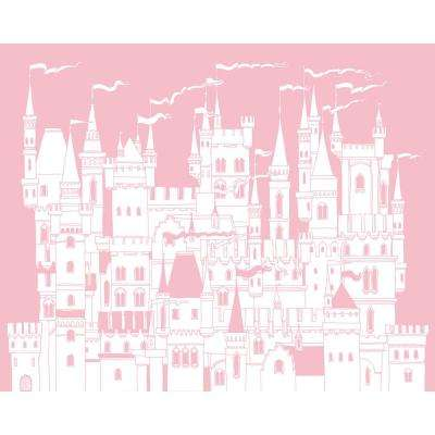 Pink Princess Castle Wall Applique