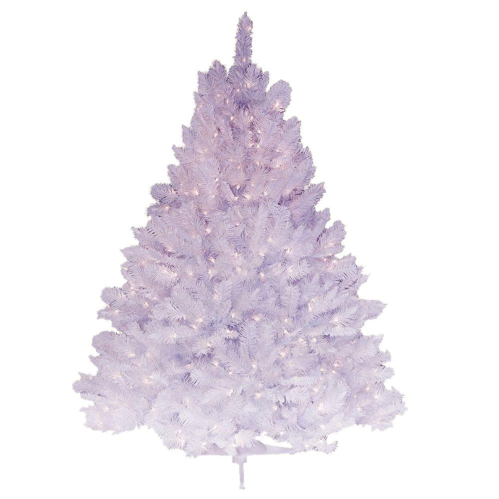 pre lit deluxe winter white fir artificial christmas tree with clear lights - White Fake Christmas Trees